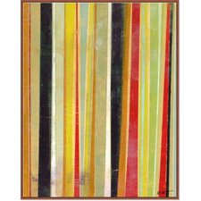 Modern Living 'Joyous Stripes II' Framed Painting Print on Canvas