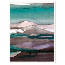 Modern Living Colorful Ink Wash 4B Framed Painting Print