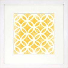 Modern Living Modern Symmetry VII Framed Graphic Art in Gold