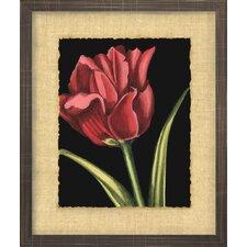 Floral Living Vibrant Tulips IV Framed Painting Print