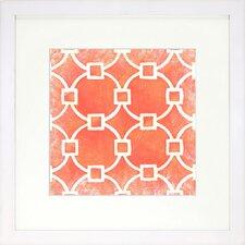 Modern Living Modern Symmetry VIII Framed Graphic Art in Orange