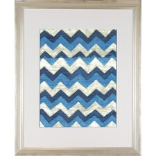 <strong>Indigo Avenue</strong> Modern Living Silk Road Ikat 4 Framed Wall Art