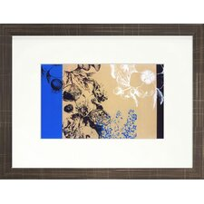 <strong>Indigo Avenue</strong> Floral Living Embroidery Framed Wall Art