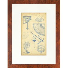 Seaside Living Vingate Astronomy I Framed Wall Art