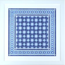 Fresh Traditions Living 'Italian Indigo Blue Mosaic Due' Framed Painting Print