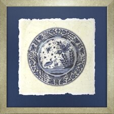 Fresh Traditions Living 'Indigo Embellished Earthenware Three' Framed Painting Print