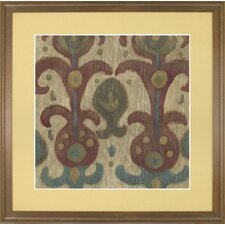 Fresh Traditions Living 'Antique Ikat 1' Framed Painting Print