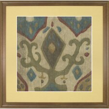 Fresh Traditions Living 'Antique Ikat 3' Framed Painting Print