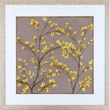 Floral Living Forsythia II Framed Graphic Art
