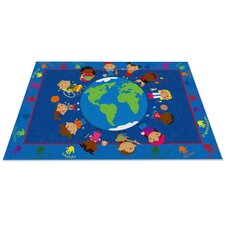 World Character Classroom Kids Rug