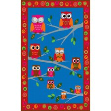 Hoot Hoot Owl Childrens Kids Rug
