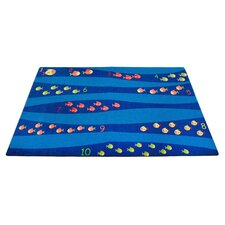 <strong>KidCarpet.com</strong> Classroom School of Fish Kids Rug