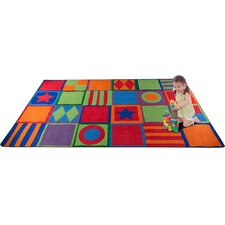 Patterned Squares Kids Rug