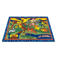 <strong>KidCarpet.com</strong> Animals at the Zoo Kids Rug