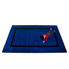 Montessori Blue with Black Line Classroom Kids Rug