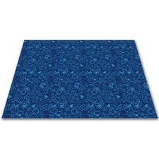 Animal Doodles Blue on Blue Kids Rug