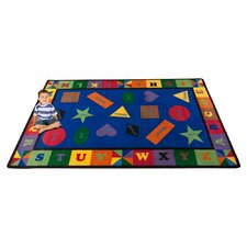 Colorful Shapes Kids Rug
