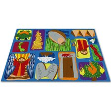 <strong>KidCarpet.com</strong> Moses Sunday School Kids Rug
