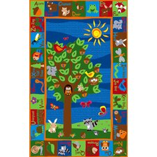 Forest ABC Animals Kids Rug