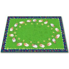 Little Lambs of God Circle Time Kids Rug