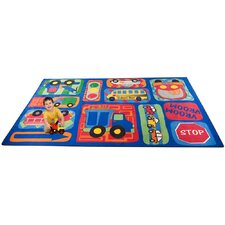 <strong>KidCarpet.com</strong> Vroom Vroom Car Play Kids Rug