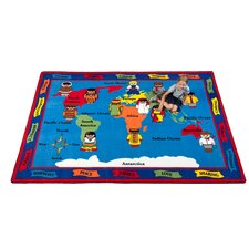 Our World of Peace Globe Kids Rug