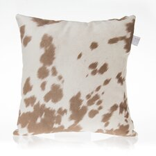Happy Trails Tan Cow Pillow