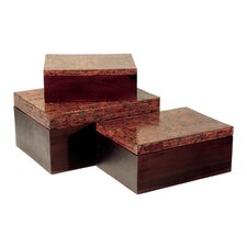 Rectangle Cinnamon Box (Set of 3)