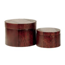 Round Cinnamon Box (Set of 2)
