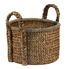 Jumbo Water Hyacinth Basket with Handle