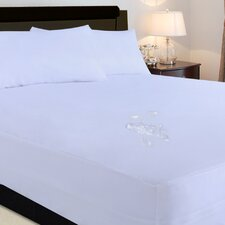 Polyester Microfiber Water and Stain Resistant Fitted Mattress Protector 2-Piece Set