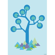 Kids Illustration Tree Paper Print