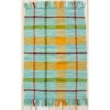 Calypso Turquoise Plaid Rug