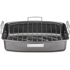 "13"" Ovenware Classic Non-Stick Roaster with V-rack"