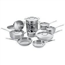 <strong>Cuisinart</strong> Chef's Classic Stainless Steel 17-Piece Cookware Set