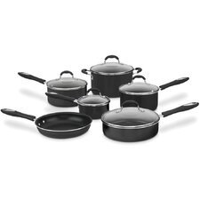 Advantage Nonstick 11-Piece Nonstick Aluminum Cookware Set