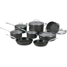 Chef's Classic Nonstick Hard Anodized 14-Piece Cookware Set