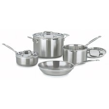 <strong>Cuisinart</strong> MultiClad Pro Stainless Steel 7-Piece Cookware Set