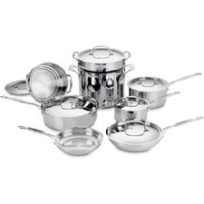 <strong>Cuisinart</strong> Chef's Classic Stainless 14-Piece Cookware Set