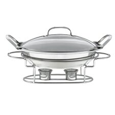 Round Buffet Server in Stainless Steel
