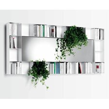 "Belvedere 37.01"" Bookcase with Mirror"
