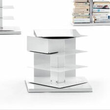 Ptolomeo Vertical Short Bookcase-Bedside / Small Table Revolving 360°