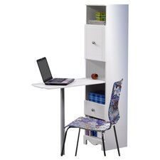 "Pixel 15"" W Bookcase Writing Desk"