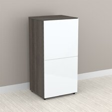 "Allure 36"" Storage Cabinet in White and Ebony with 1 Door"