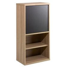 Infini-T One Door Bookcase in Biscotti and Espresso