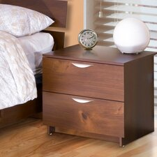 <strong>Nexera</strong> Nocce Truffle 2 Drawer Nightstand