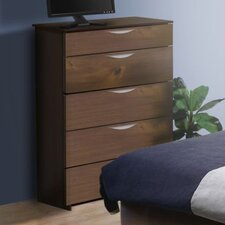 <strong>Nexera</strong> Nocce Truffle 5 Drawer Chest
