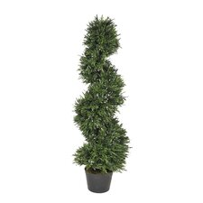 Artificial Rosemary Spiral Topiary Pot