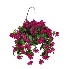 Artificial Bougainvillea Hanging Plant in Basket