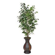 Artificial Ficus Tree in Decorative Vase